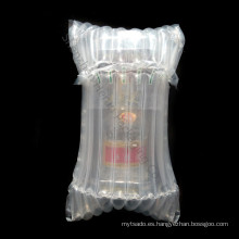 Bolsa plástica de burbujas de aire para botella frágil