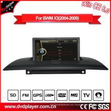 GPS de navegación de coches reproductor de DVD para BMW X3 E83 con USB Video Bluetooth Hualingan