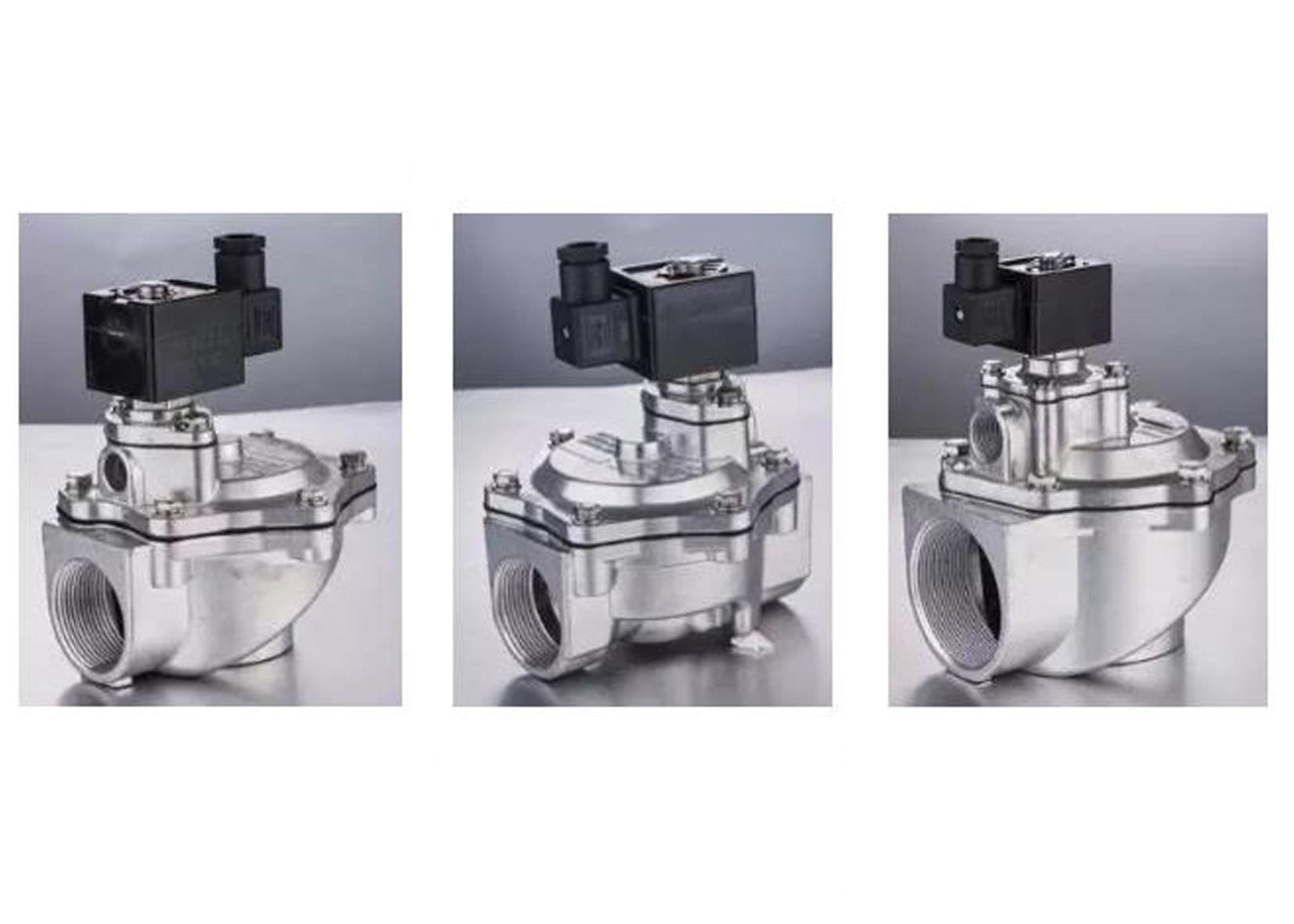 Different types and port sizes of DC24V/2 Way Piloted pneumatic Pulse jet Solenoid Valves