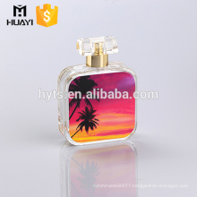 professional glassware manufacturer supply 100ml customized design perfume glass bottle