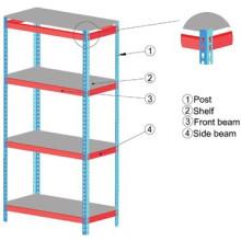 Adjustable storage racks light duty rack system