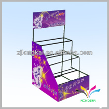 Design de moda metal balck hair bow color display racks