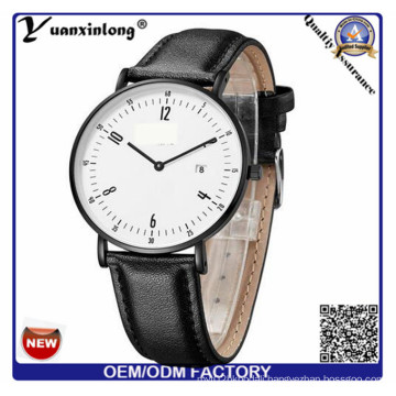Yxl-762 Ladies Tops Latest Fashion Leather Strap Watches, Stainless Steel Caseback Watch
