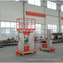Plataforma de trabalho aéreo elétrica da plataforma de elevador hidráulica de TWO-mast / elevador elevador