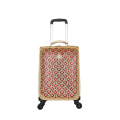soft scratch resistant PU leather luggage bags