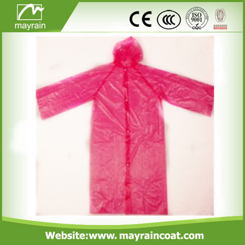 PE Disposable Rainwear Raincoat