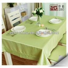 Couverture de table à manger décorative verte en gros