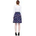 Grace Karin Women's Vintage Retro Pleated Birds Print Cotton Skirt 5 Patterns CL010401-5
