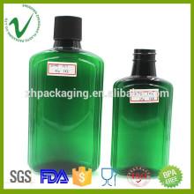 250ml botella plástica verde vacía al por mayor del PET de 500ml con alta calidad