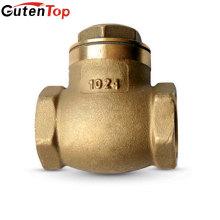 Linbo Guten haut OEM 1/2 3/4 1 pouce Forgé en laiton Compteur d'eau Swing Stop Clapet anti-retour