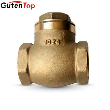 linbo Guten top OEM 1/2 3/4 1 Inch Forged Brass Water Meter Swing Stop Check Valve