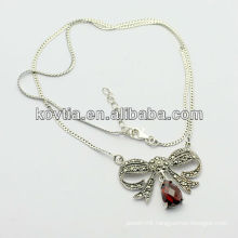 Wholesale China made antique 925 silver jewelry necklace