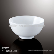 healthy special durable white porcelain bowl