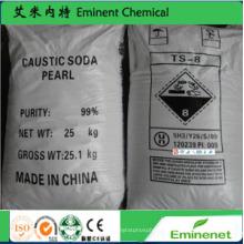 99% Caustic Soda Pearls Sodium Hydroxide