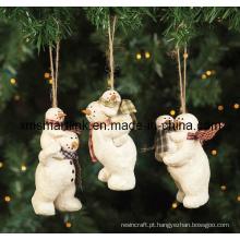 Presente pendurado da figurinha do urso, ornamento de suspensão de Natal