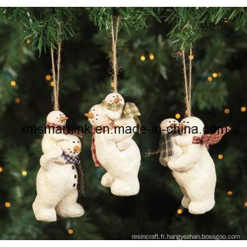 Cadeau pendentif de Figurine d'ours, Ornement suspendu de Noël