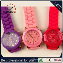 Geneva Brand Watch, Ladies Fashion Watches, Silicone Watch (DC-244)
