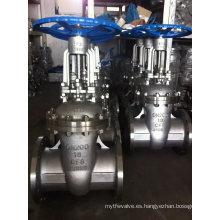 Válvula de compuerta de brida de acero inoxidable 304/316 para Industrial