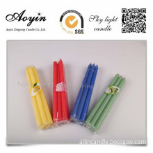 Party City Colorful Paraffin Wax Stick Candle
