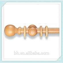 Китай Поставка сосновый орех деревянный шар Finial Curtain Curtain Kit, Резной древесины Finial