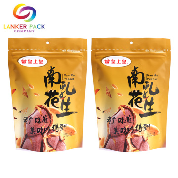Dicetak Zip Top Laminated Material Pouch Packaging