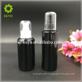 100ml black frosted glass bottle cosmetic glass bottle packing pump bottle