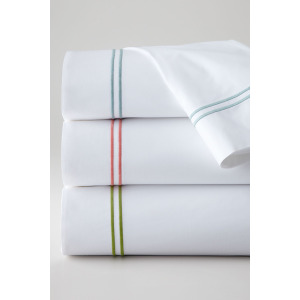 Double lines embroidery pillowcase