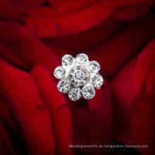 Sparkly Kristallperle Hochzeits-Blumenstrauß-Schmucksache-Rhinestone-Brosche-Blumenstrauß
