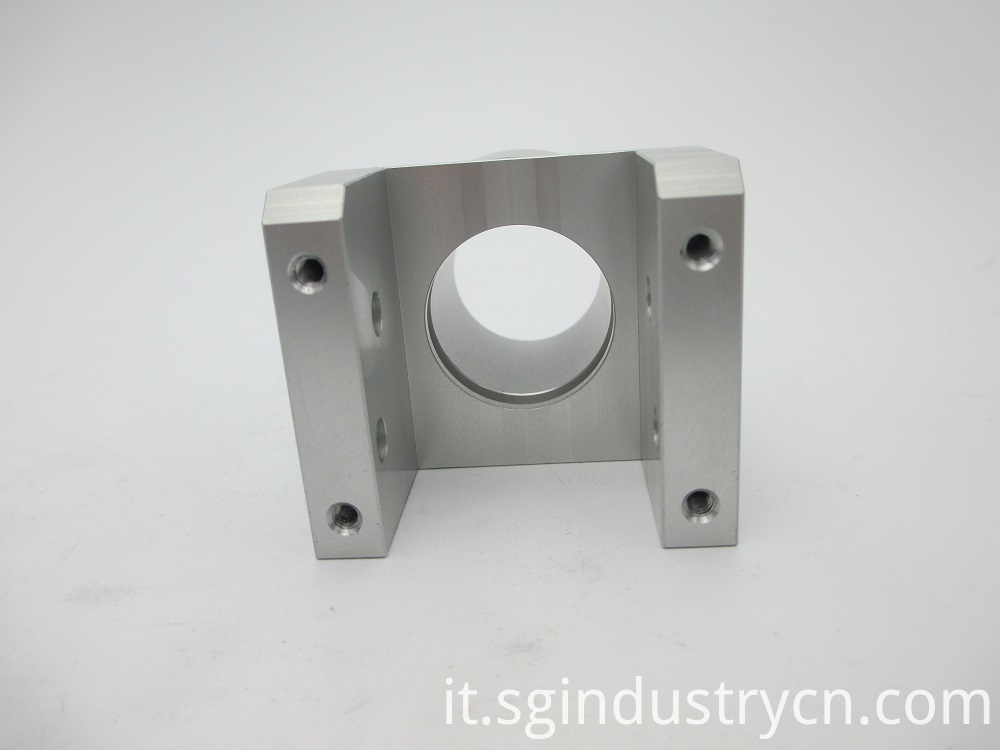 CNC Aluminum Milling Metal Parts With White Anodize