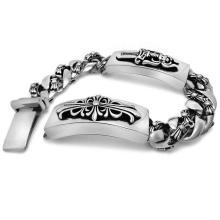 Gothic & Punk & Rock Style Men Classic Stainless Jewelry ID Bracelets