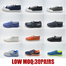 Low MOQ Women Men Canvas Casual School Injection Stock Shoes