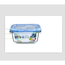 Bacia de frutas de vidro de tampa de alta qualidade PP