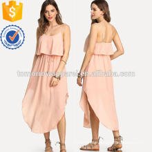 Curved Hem Double Layer Cami Dress Manufacture Wholesale Fashion Women Apparel (TA3226D)