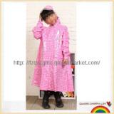 Lovely cartoon PVC long raincoat for kids