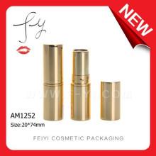 Luxury Hot Sale Empty Round Gold Aluminum Lipstick Tube