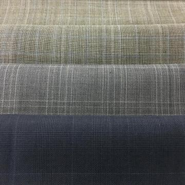 Check Pattern Jacket Wool Fabric