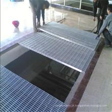 Plataforma usando grade de barra de aço galvanizado
