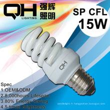 E27 E14 B22 Gu10 11w 2700k lampe économiseuse d'énergie