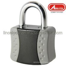 Verre imperméable en ABS recouvert d'étanchéité / cadenas en alliage d'aluminium / cadenas en alliage de zinc (610)