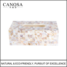 Good Quality Freshwater Shell and Resin Tissue Box