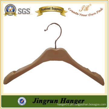 New Popular Wood Plastic Hanger Mulheres Tops Cabides de roupas