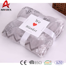 Zickzack-Fleece-Decke aus 100% Polyester-Zickzack-Plüsch