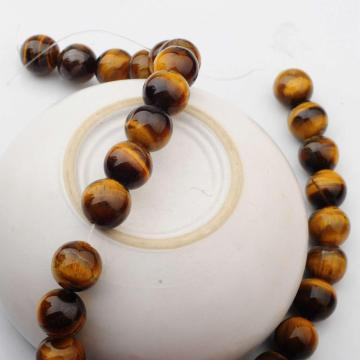 14MM Loose natural Gemstone Tiger Eye Round Beads for Making jewelry