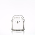 Eco-friendly double wall glass cup high borosilicate glass Design mug