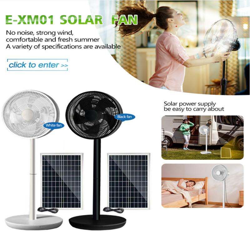 Rechargeable solar fan 7