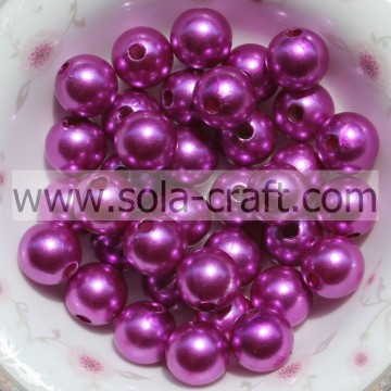 2014 Latest Style 6MM Rose Round Crystal Pearl Shinny Wonderful Acrylic Plastic Beads