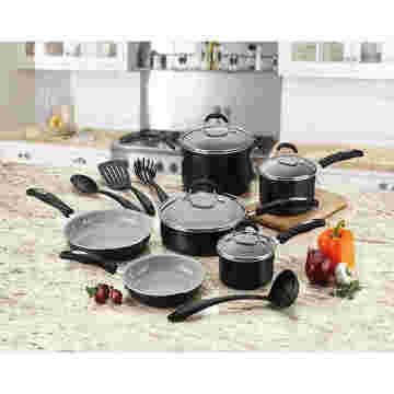 Amazon Vendor 14 Stück Nonstick Keramik Kochgeschirr Set Induction Bottom