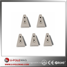 N35 Trapezoid Neodymium Magnet with Two Countersinks