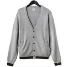 95% Algodão 5% Caxemira Masculino Pullover Sweater Homens Knitwear Fine Gauge Sweater Knitwear
