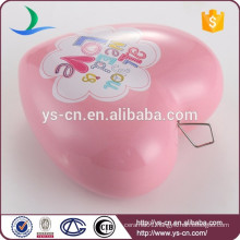 Promotional pink heart ceramic china home decor wholesale
